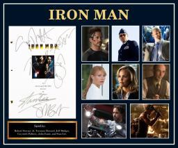 Iron Man - Signed Movie Script in Photo Collage Frame