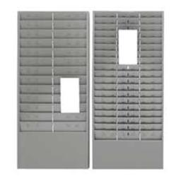 Time Card-Ticket Message Rack- 1.676-54 Pocket- Gray