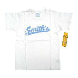 Smith's American White Vintage Distressed T-Shirt Womens S/M Small/Medium