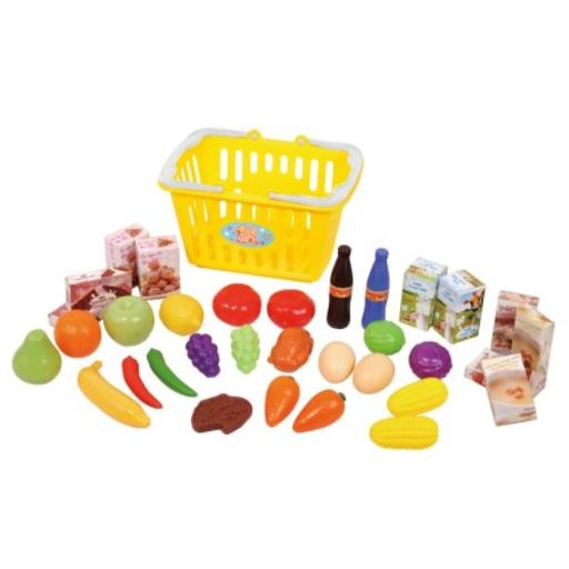 Playgo My Shopping Basket Your child ages 3 and up will enjoy mock shopping with this little shopping basket*Easy to hold and carry for your little one; Cute little basket with 2 handles*See item description below for further details