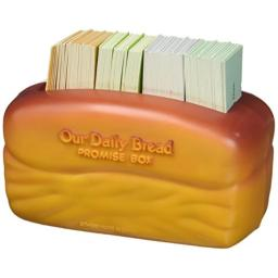 """Dayspring Our Our Daily Bread Promise Box with Scripture Cards, 4 1/4"""" x 2 1/4"""" x 2"""", Brown"""