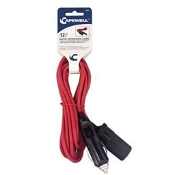 Disston 0100 Capwell 12-Feet 12-volt Auto Extension Cord, Red by Disston