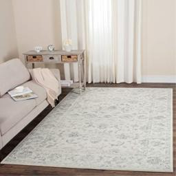 Safavieh Carnegie Collection CNG621D Vintage Cream and Grey Distressed Area Rug (4' x 6')