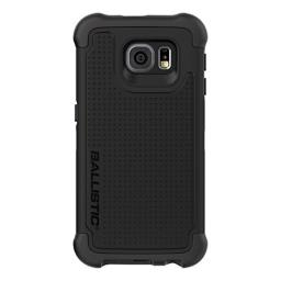 Galaxy S6 Case, Ballistic [Tough Jacket] Six-Sided Drop Protection [Black] 6ft Drop Test Certified Case Reinforced Corner Protective Cover for Samsung Galaxy S6 - (TJ1587-A06N)