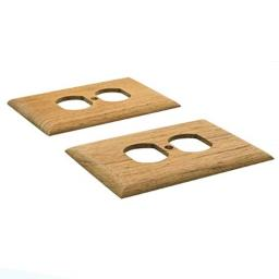 Whitecap teak outlet cover receptacle plate 2 pack
