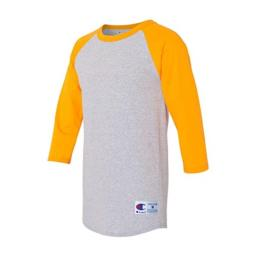Champion Men's Raglan Baseball T-Shirt L