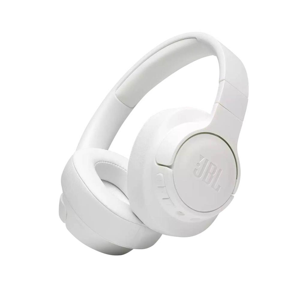 JBL TUNE 700BT - Wireless Over-Ear Headphones with Multi-Point Connection and Detachable Audio Cable - White