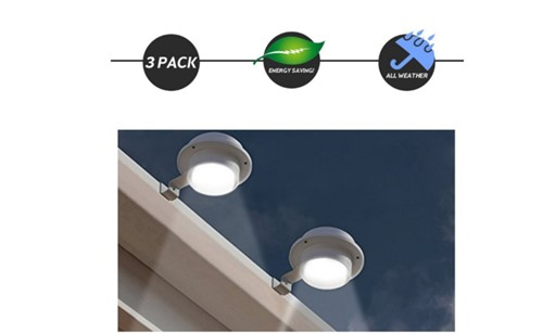 Solar Powered Energy Saving LED Waterproof Outdoor Lights with Clamps - For Garden, Driveway, Gutters and Walkways