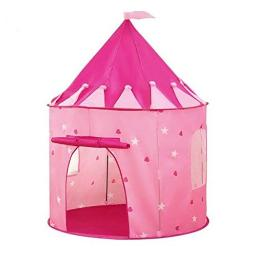 Princess Castle Play Tent With Glow In The Dark Stars, Conveniently Folds In To A Carrying Case, Kids Will Enjoy This Foldable Pop Up Pink Play Tenthouse Toy For Indoor & Outdoor Use (Pink Stars)