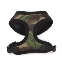 Casual Canine Polyester Camo Dog Harness, X-Small, Green