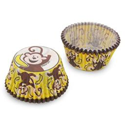 Cupcake Creations BKCUP-8953 Standard Cupcake Baking Cup, Monkey Business, 32-Pack