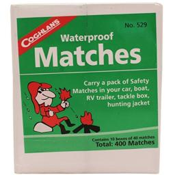 Waterproof Matches, 10 Box Pack Coghlans 529