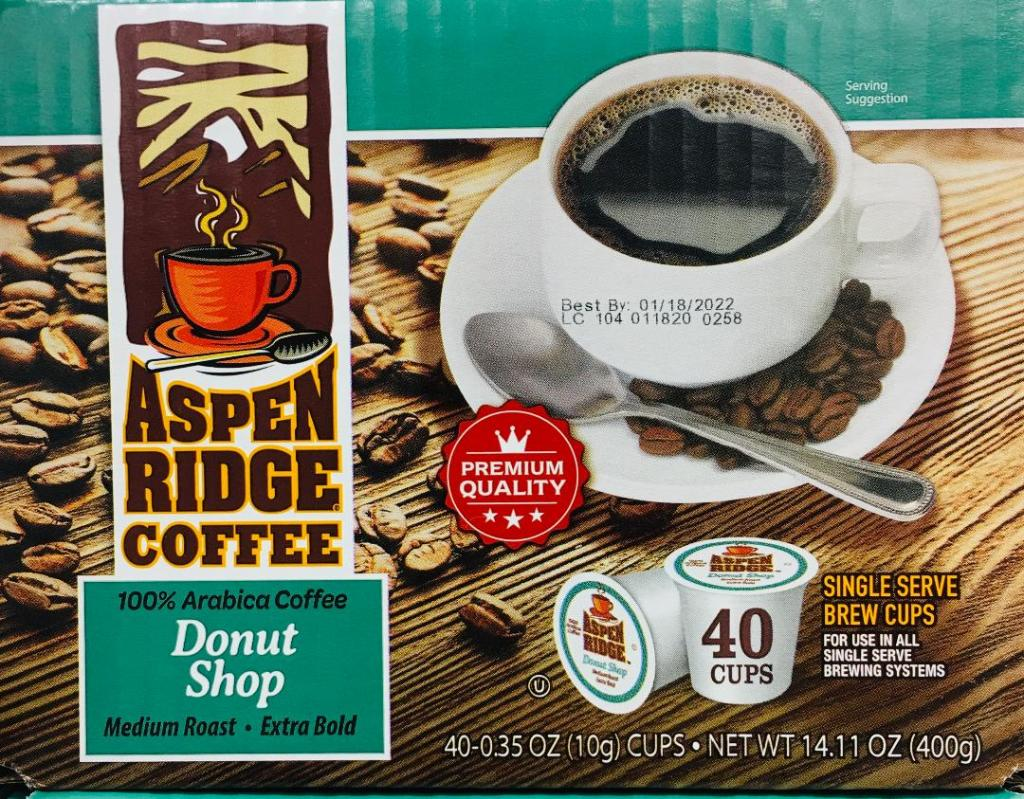 Aspen Ridge Coffee Donut Shop Medium - Extra Bold 40 K-Cups