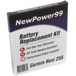 NewPower99 Battery Replacement Kit with Battery Video Instructions and Tools for Garmin Nuvi 255