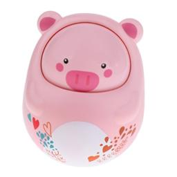 Homyl Baby Kids Rattles Tumbler with Sound Nodding Roly-Poly Educational Toys Pig
