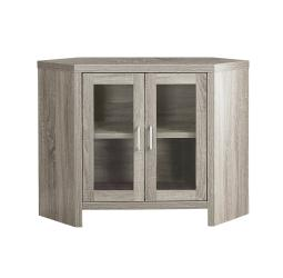 "Offex OFX-504269-MO Entertainment Room TV Stand, 42""L/Dark Taupe Corner with Glass Doors"