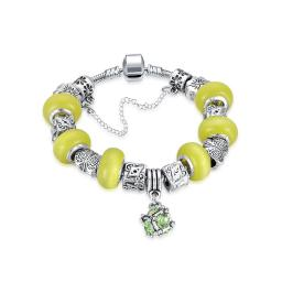 Yellow Swarovski Elements Pandora Inspired Dangling Sphere Charm
