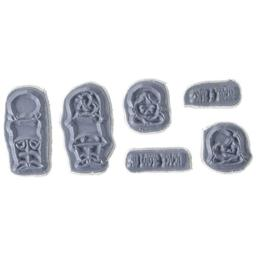 Art Impressions Front-N-Backs Cling Rubber Stamp, 7 by 4-Inch, Boy and Girl