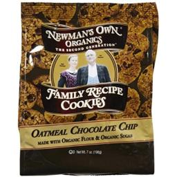 NEWMANS OWN ORGANICS Oatmeal Chocolate Chip Cookies, 7 OZ