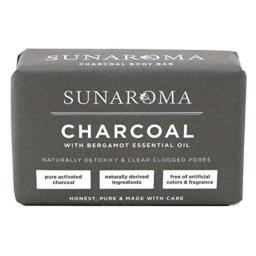 Sunaroma Soap Bar Charcoal With Bergamot Oil 8 Ounce