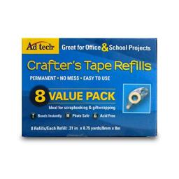 AdTech 05674 Permanent Crafter's Tape Refills, single unit