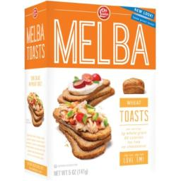 Old London, Melba Toasts, Wheat, 5.0 Ounce (Pack of 12)