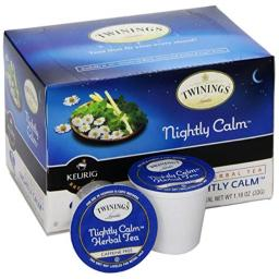 Twinings of London K-Cup Portion Pack for Keurig K-Cup Brewers Nightly Calm Tea, 72 Count