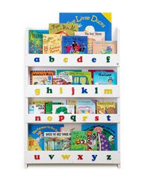 Tidy Books Kid'S Bookshelf with Color Alphabet - White