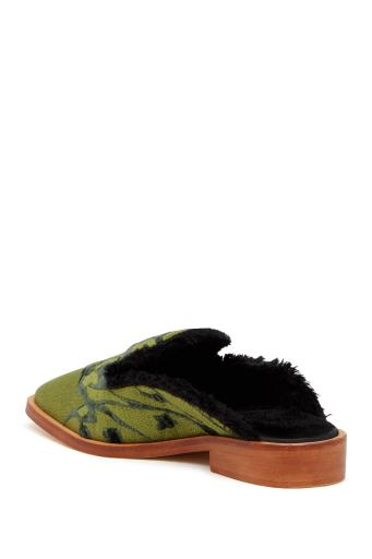 Free People Womens BUTTERFLY EFFECT MULE Fabric Square Toe Mules