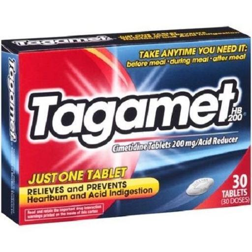 Tagamet Heartburn Acid Reducer Tablets .Tagamet Heartburn Acid Reducer Tablets.30 Tablets.Expiration Date Always Fresh.Relieves heartburn associated with acid indigestion and sour stomach.Prevents heartburn associated with acid indigestion and sour stomach brought on by eating or drinking certain foods and beverages.Take anytime you need it--before meal, during meal, after meal.Just 1 tablet relieves and prevents heartburn and acid indigestion.