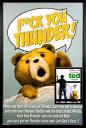 Ted - Movie Poster with Signed Photo by Mark Wahlberg