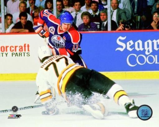 Mark Messier 1989-90 Stanley Cup Finals Action Photo Print NHPZCYK41S3IYWEZ