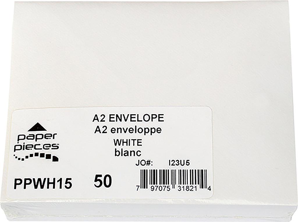 A2 Envelopes 50/Pkg-White