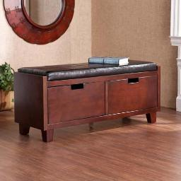 SEI Capistrano 2-Drawer Bench