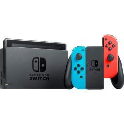 Nintendo Switch Console with Neon Blue and Red Joy-Con Wireless Controllers