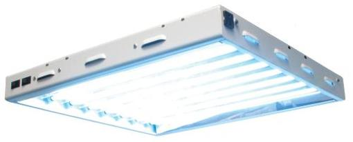 Sun Blaze T5 Fluorescent - 2 ft. Fixture 8 Lamp 120V - Indoor Grow Light Fixture for Hydroponic and Greenhouse Use