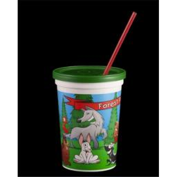 Airlite Plastics Co. 34359B Fun Kids Cup - Forest Friends