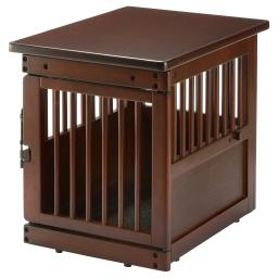 Richell 80004 dark brown richell wooden end table dog crate small dark brown 24 x 18.1 x 20.9