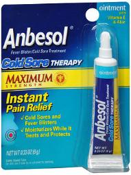 Anbesol Cold Sore Therapy Ointment - 0.25 Oz, Pack Of 4