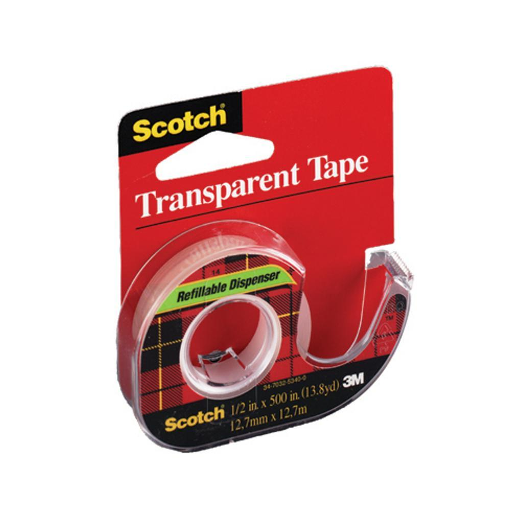 3m 144 scotch transparent tape 1/2 inch x 500 inches
