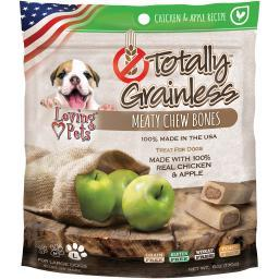Totally Grainless Meaty Chewy Bones For Large Dogs 6Oz-Chicken & Apple LP5311