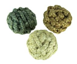 Blue White and Natural Jute Rope Decor Orb 8 inch Set of 3