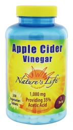 Nature's Life - Apple Cider Vinegar 1000 mg. - 250 Tablets