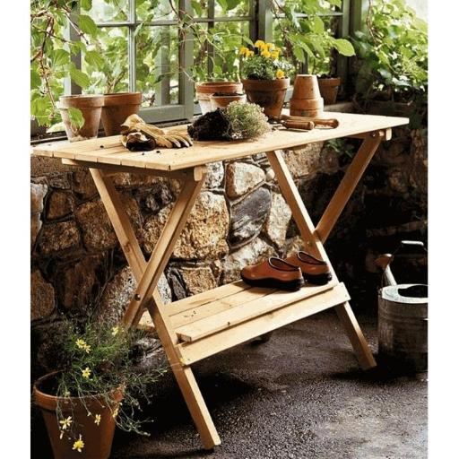 Merry Products MPG-PB05 Simple Potting Bench - Console Table