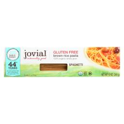 Jovial Pasta - Organic - Brown Rice - Spaghetti - 12 oz - case of 12