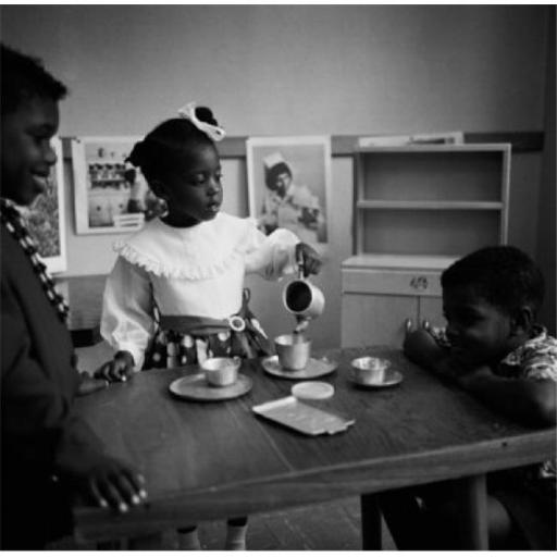 Posterazzi SAL255424932 Three Children Playing with Tea Set Poster Print - 18 x 24 in.
