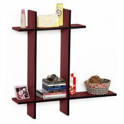 Blazing Fire-BLeather Cross Type Shelve / Book Shelve / Floating Shelve(4 pcs)