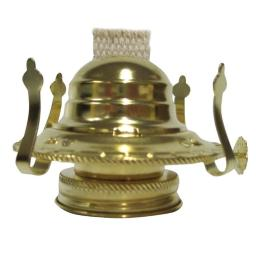 Lamplight 31507 Large Oil Lamp Burner With Wick, Brass