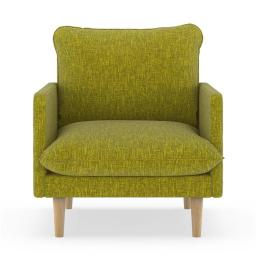 NyeKoncept 50090557 Abbey Armchair Pebble Weave - Avocado with Natural Finish