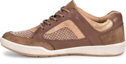 Comfortiva Womens Lemont Leather Low Top Lace Up Running Sneaker